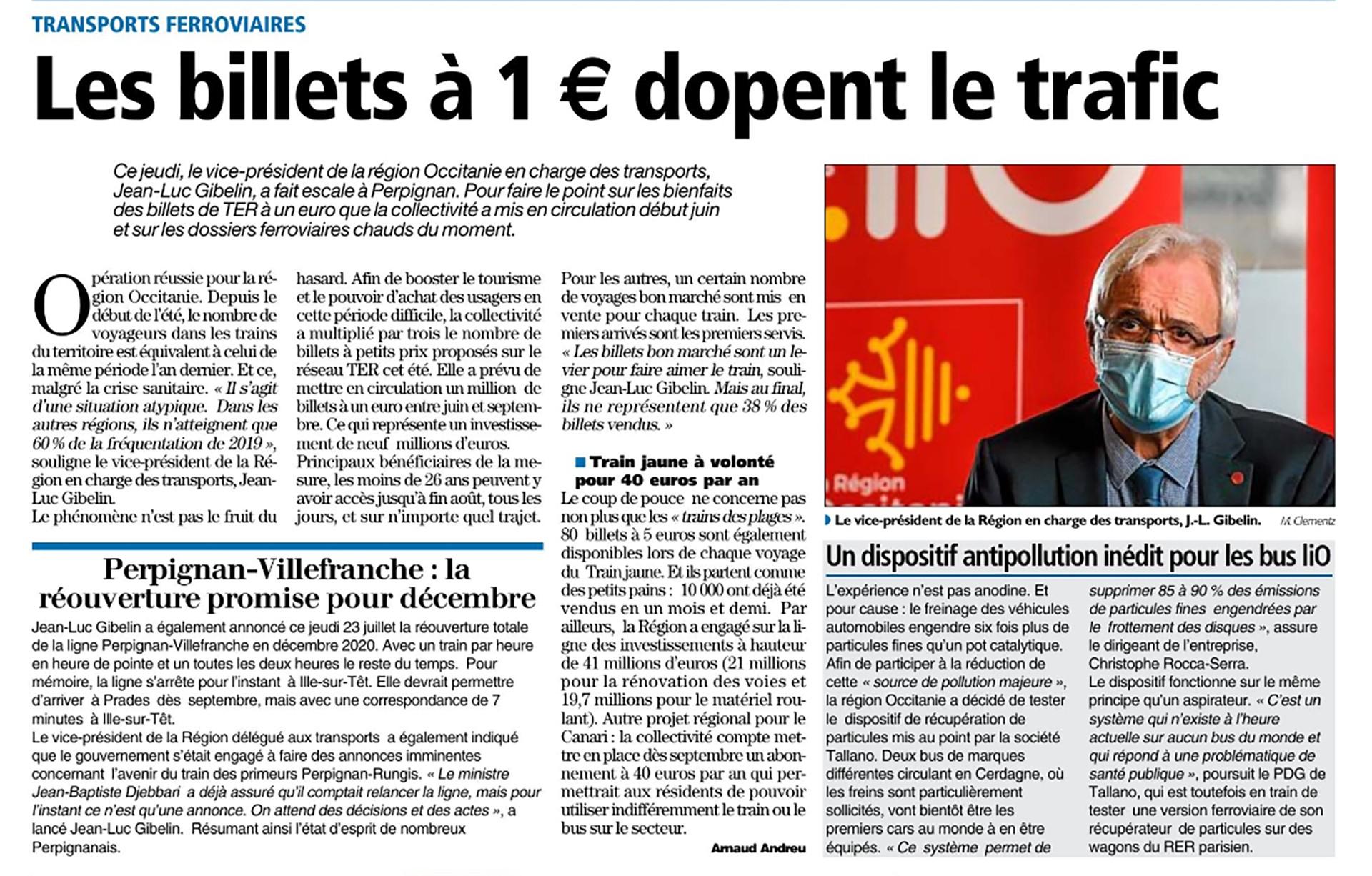 Article independant 24 07 2020 abonnements train jaune annonce reouverture integrale ligne perpignan villefranche de conflent