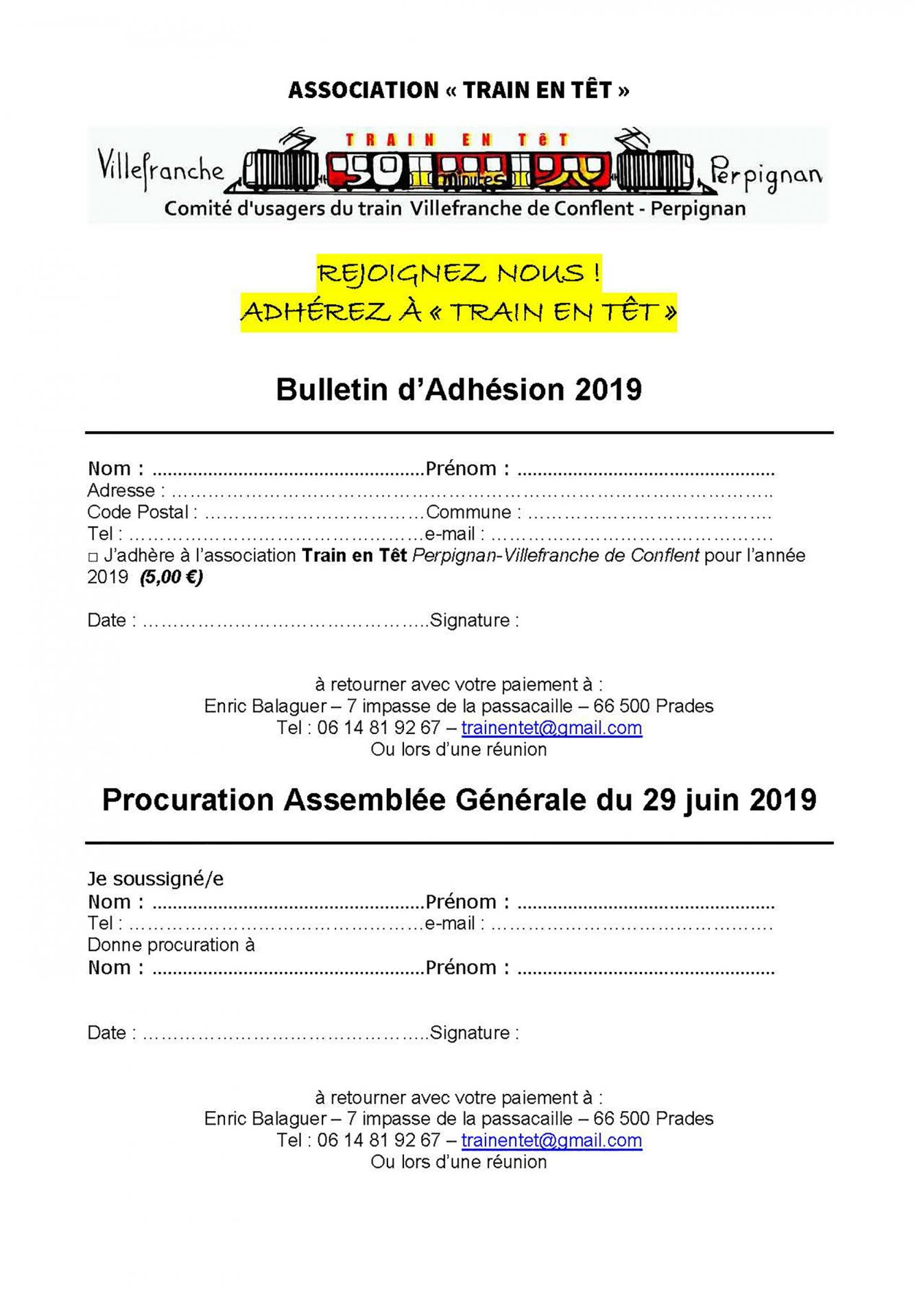 Bulletin d adhesion train en tet 2019