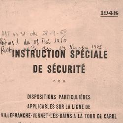 Instructions speciales 1948
